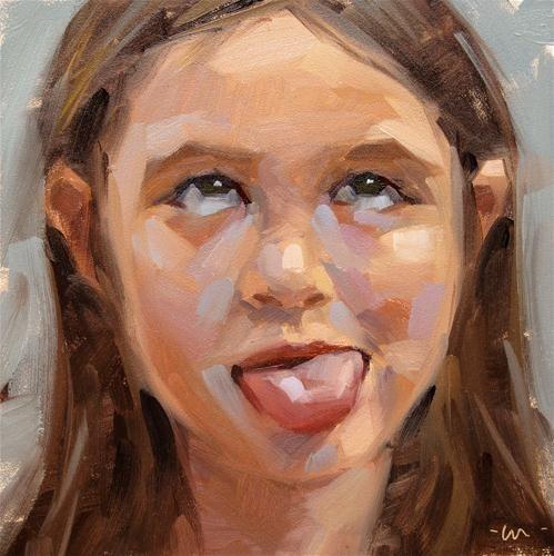 """Two tongues - SOLD"" - Original Fine Art for Sale - © Carol Marine"