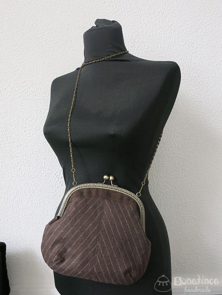 57b7e6e497c2 Мастер-класс и выкройка винтажной сумочки с фермуаром Сумки Ручной Работы,  Платье С Высоким