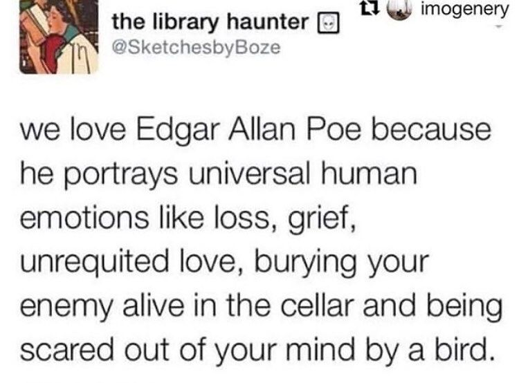 Heaven S Mouthpiece On Instagram Send To Your Local Goth Hozier Hoziermemes Literature Literaturememes W Literature Humor Literary Humor Human Emotions
