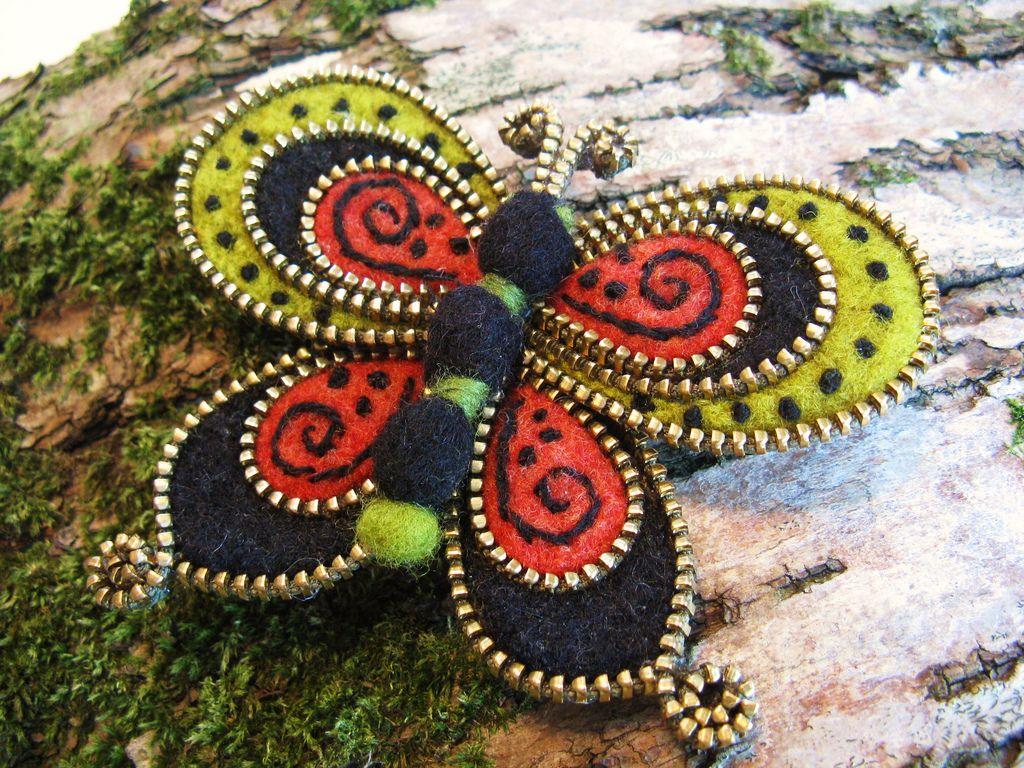 Beautiful butterfly zipper brooch❤