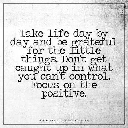 Take Life Day by Day and Be Grateful (Live Life Happy) | Words To