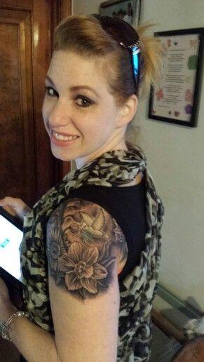 Birth flower tattoo