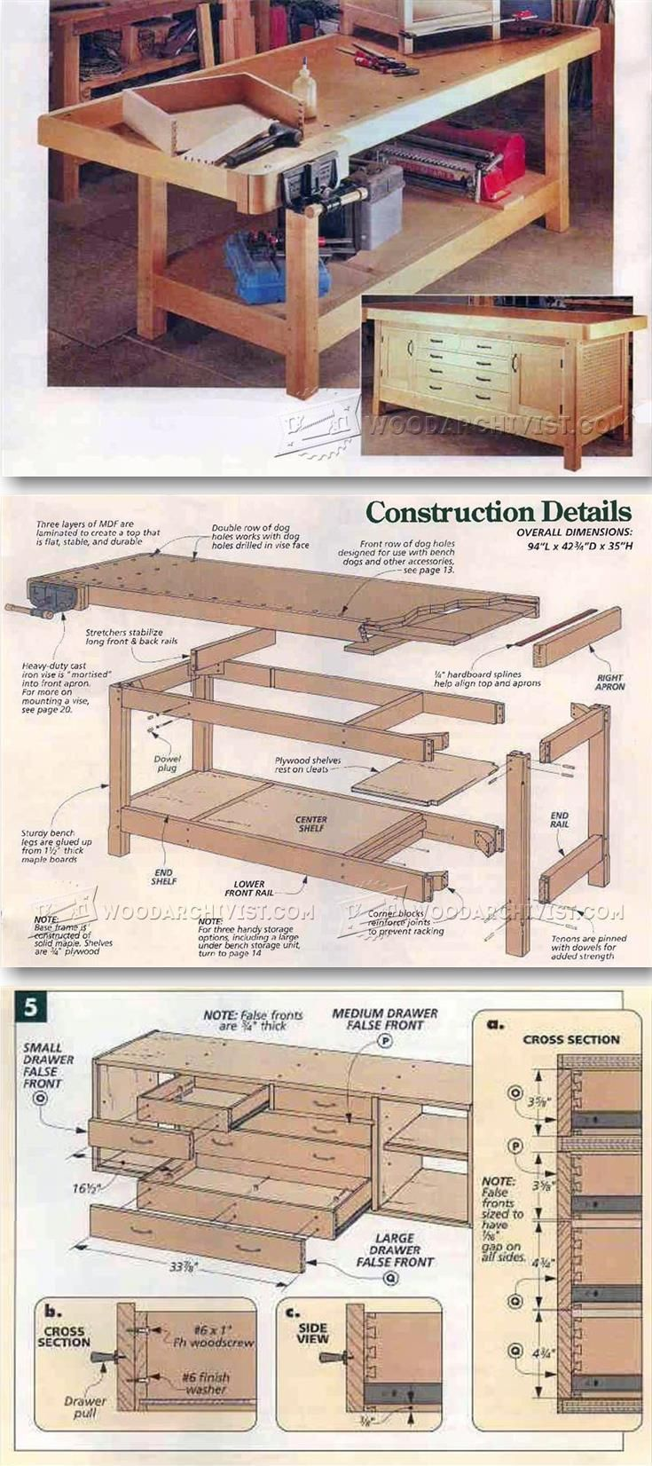 Heavy Duty Workbench Plans Workshop Solutions Projects