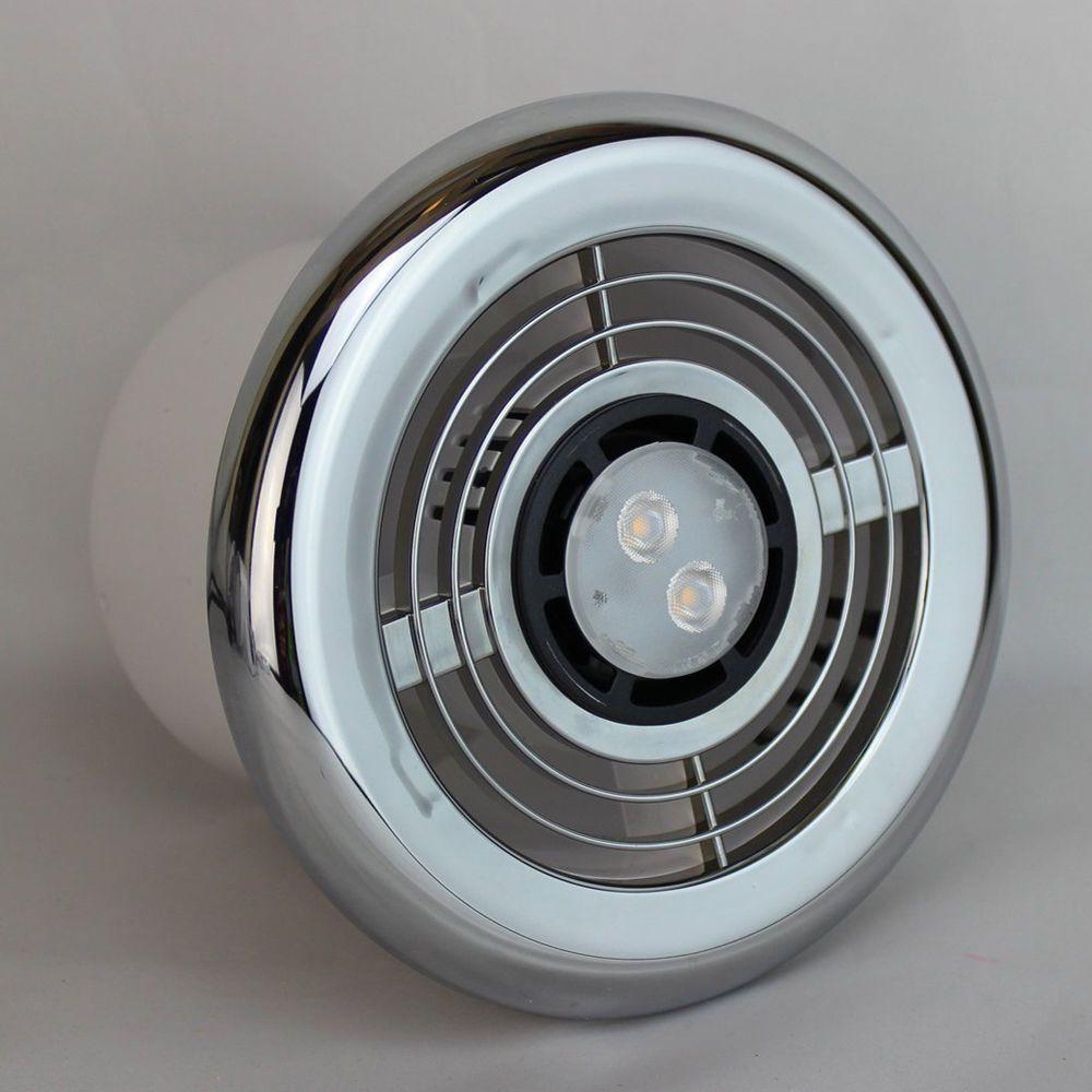 LED Bathroom Shower Extractor Fan 3.4w Light Kit Chrome ...