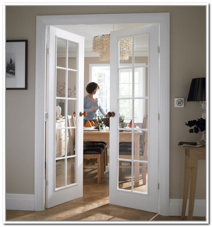 Attractive Interior French Doors White