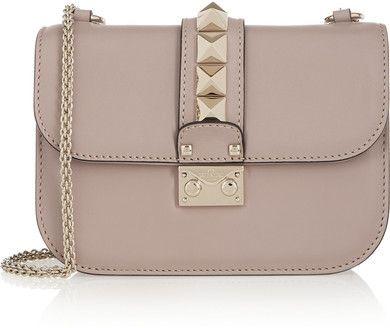 Valentino - Lock Small Leather Shoulder Bag - Blush | Shoulder ...