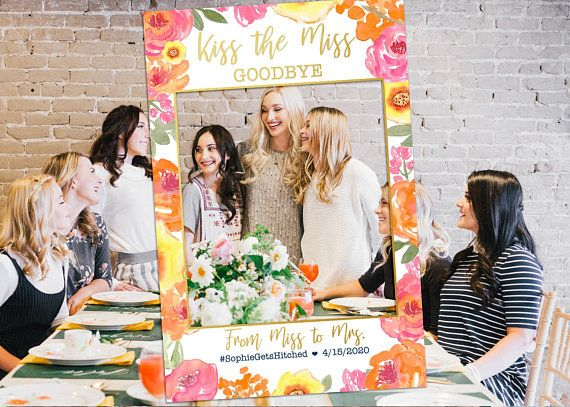 Bridal Shower Photo Prop Photo Booth Frame Bachelorette Picture
