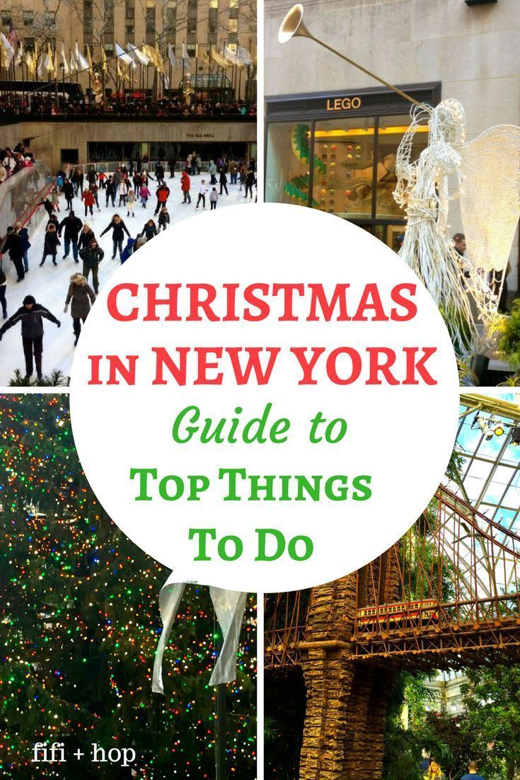 Christmas in New York is one of the most magical times in America's greatest city! Here is our guide to the top things to do in New York during Christmas. #Christmasinnewyork #NewYork #Christmas