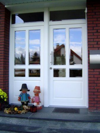 Haustür weiß sprossen  Haustür weiss in Boke   Doors   Pinterest   Haustüren, Hauseingang ...