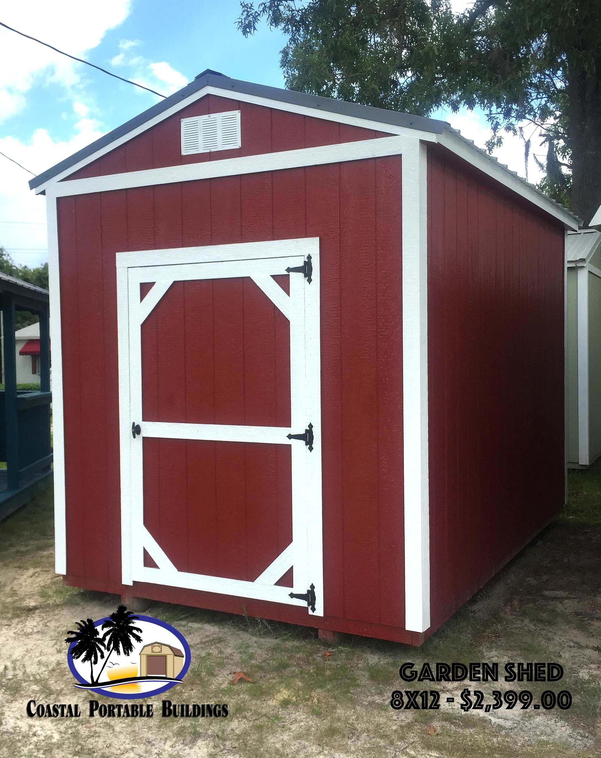 8x12 garden shed built by coastal portable buildings in starke fl toolshed - Garden Sheds Florida