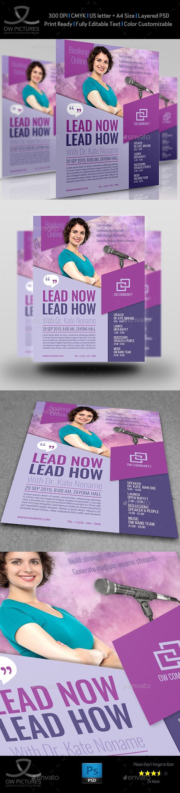 Seminar Flyer Template Vol  Flyer Template Buffet And Motivational