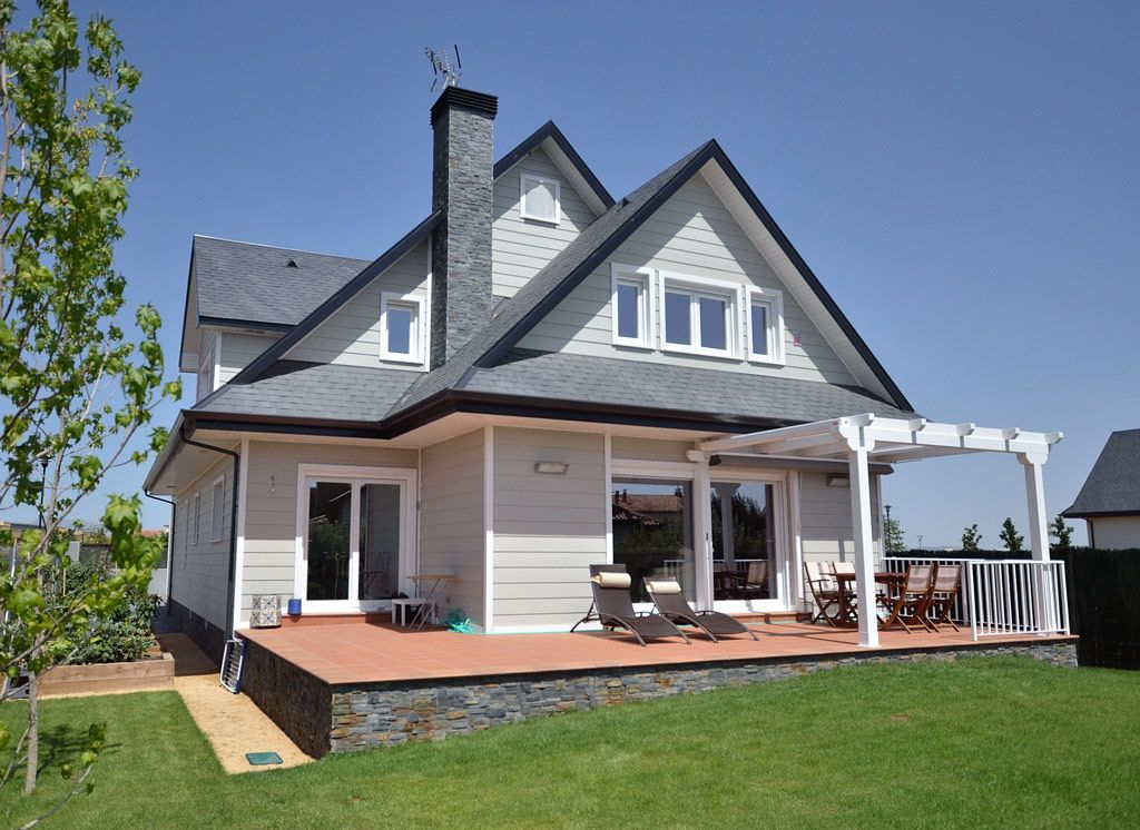 Casa de madera en logro o facades fachadas en 2019 pinterest - Casa paz logrono ...