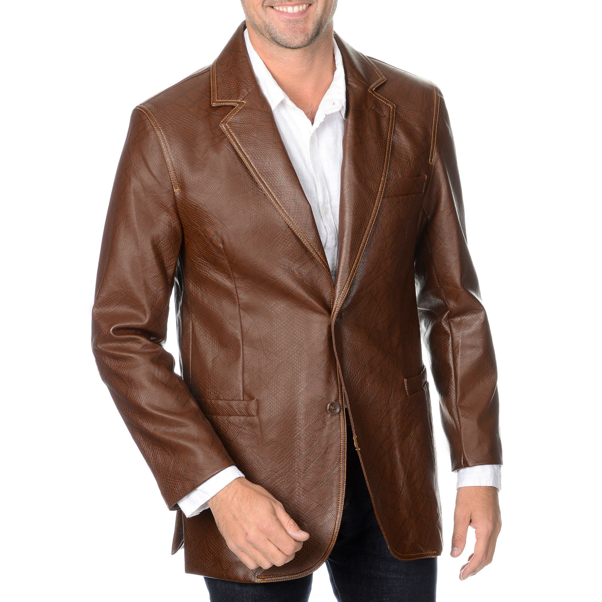 a42b26293 Blue Martini Men's Reptile Embossed Faux Sport Coat | Outfit Coats ...
