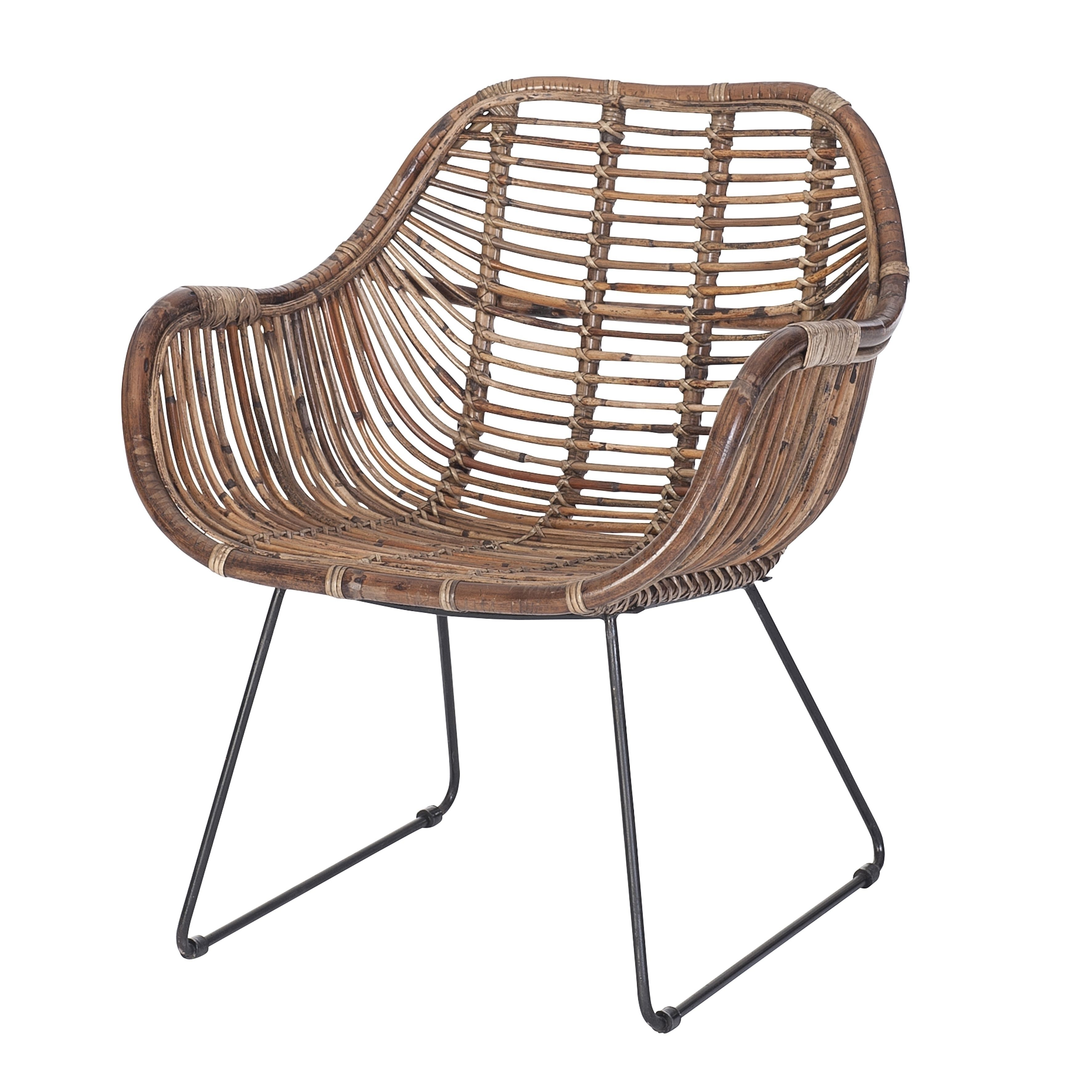 Hangstoel Rotan Intratuin.Intratuin Diningstoel Marcel Dark Rattan Grey Tuin