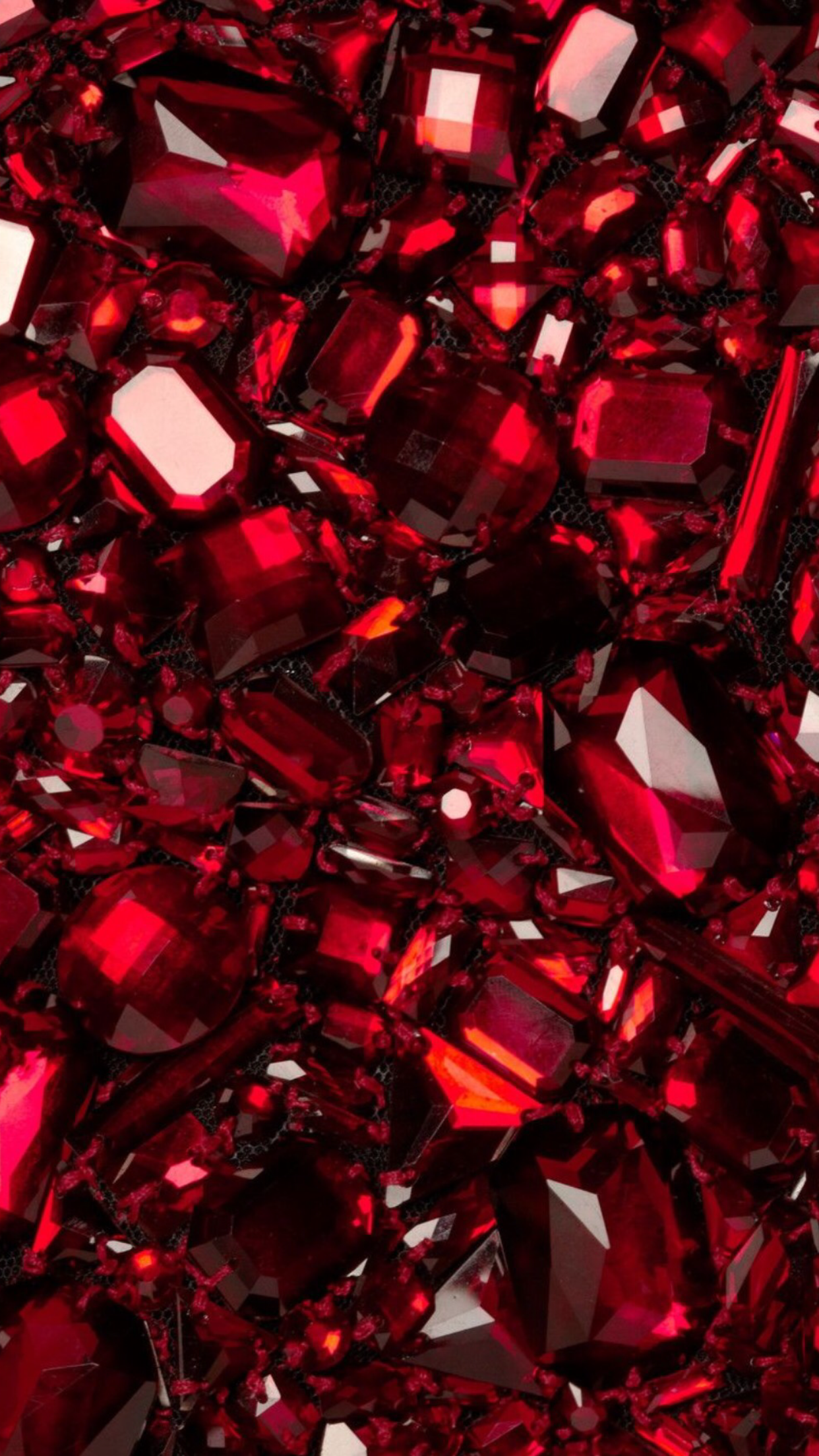 L Dark Red Ruby Gemstone Crystal Jewel
