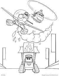 Dusty Blade and the Smokejumpers Coloring Page  Johns