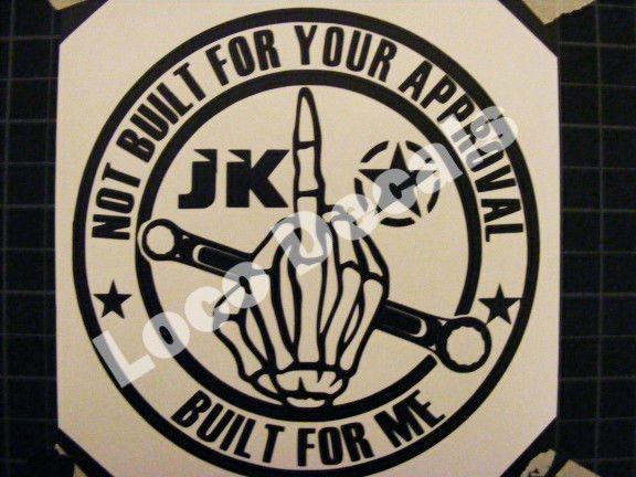 Jeep Decal CJ TJ YK JK XJ LJ WJ ZJ  Vinyl Sticker Decal