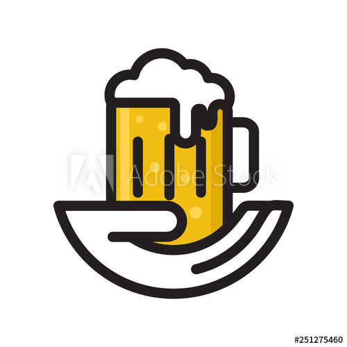 Hand Hold Beer Mug Logo Icon Vector Template Buy This Stock Vector And Explore Similar Vectors At Adobe Stock Adobe Stock Logo Icons Beer Mug Beer