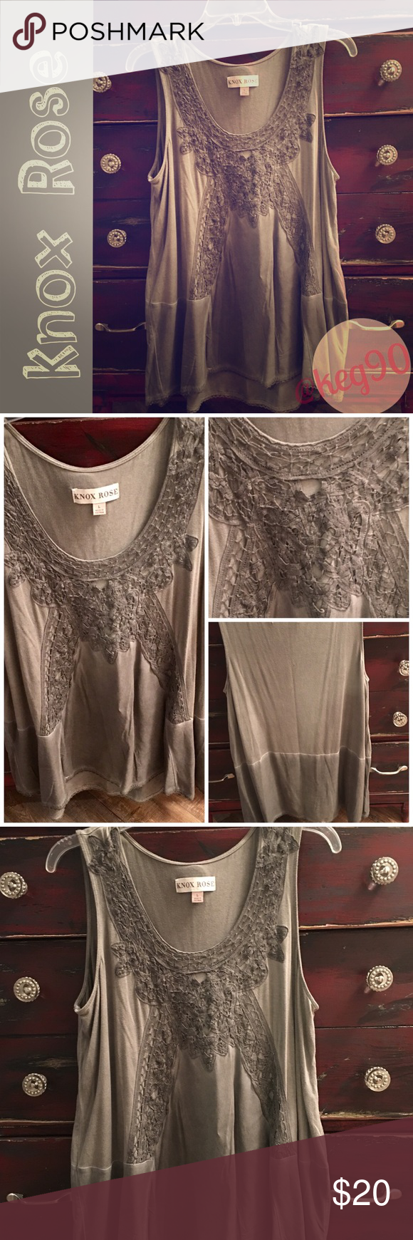 Knox Rose oversized detailed top See pics for this ...