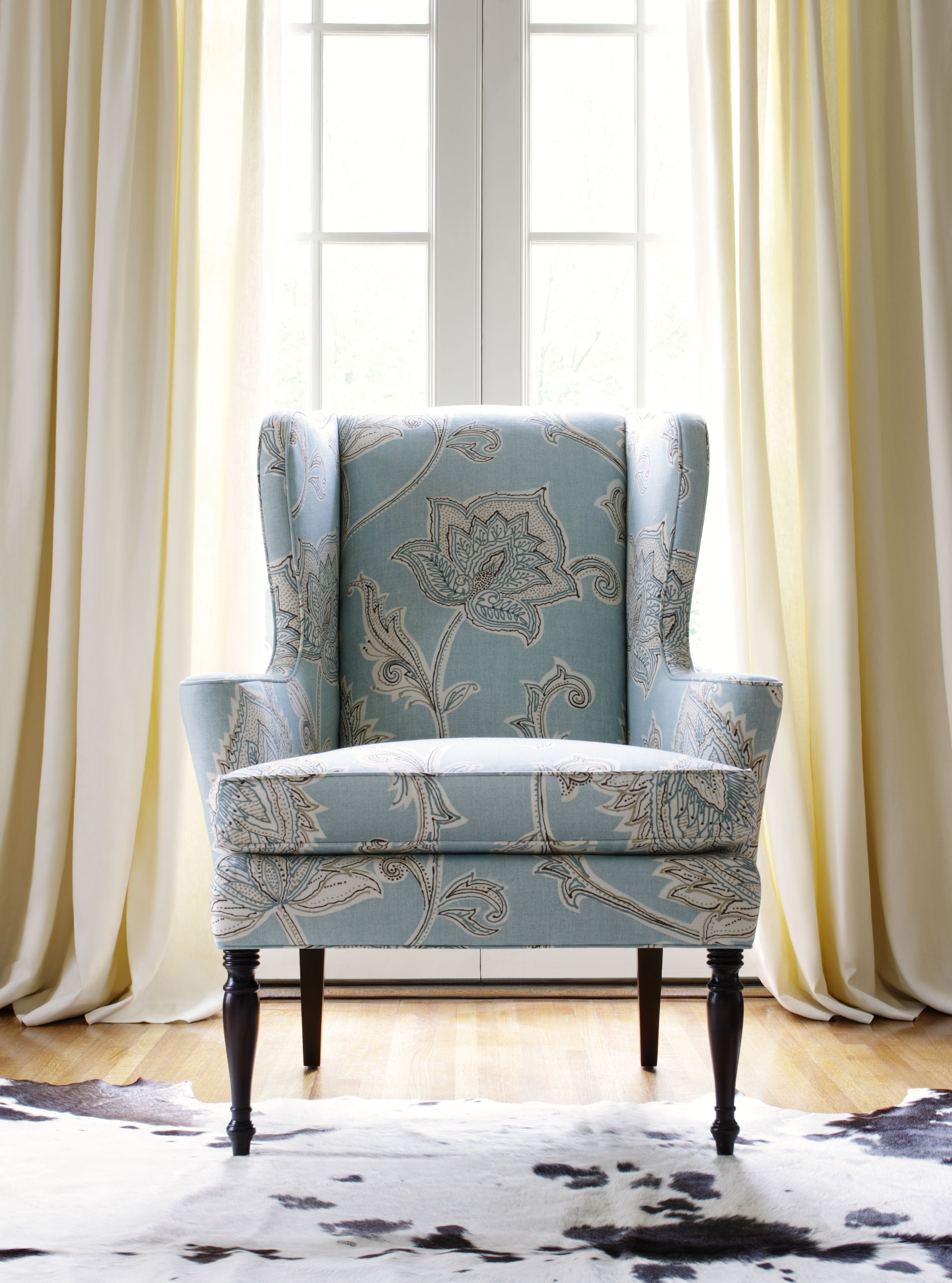summit wing chair in orissa aqua by thibaut fine furniture