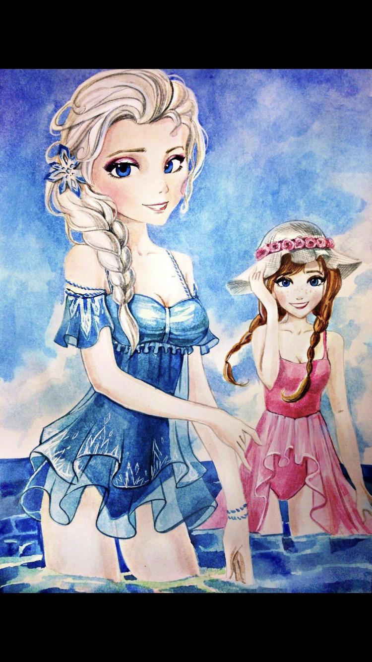tegninger af anna og elsa