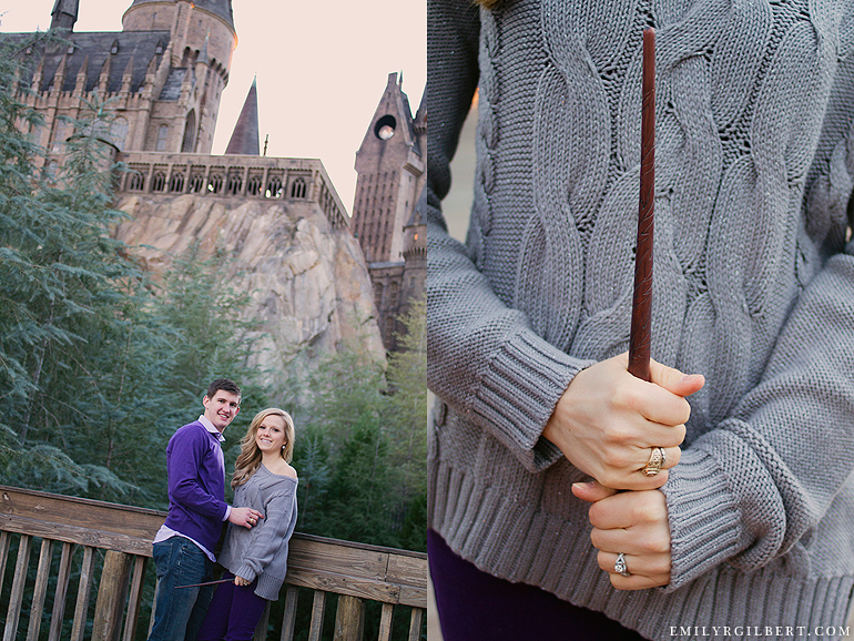 Wizarding World Of Harry Potter Engagement Session Emilyrgilbert Remember This Photographer