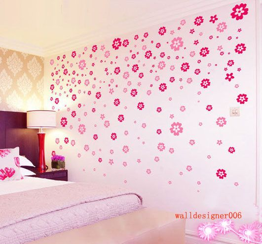 Vinyl wall decalwall decor baby decal nursery decal kids decal vinyl wall decalwall decor baby decal nursery decal kids decal pink flower decal wall art wall stickerroom decor girl 200pieces flowers mightylinksfo Image collections
