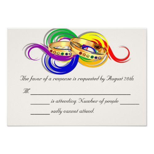 Custom gay wedding rsvp cards non formal card wedding rsvp rsvp custom gay wedding rsvp cards non formal card stopboris Gallery