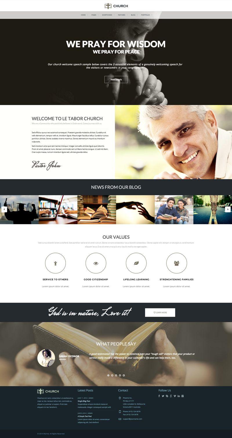 Marine Multipurpose Wordpress Theme Church Website Wordpress Wordpress Website Design Web Design Web Design Inspiration