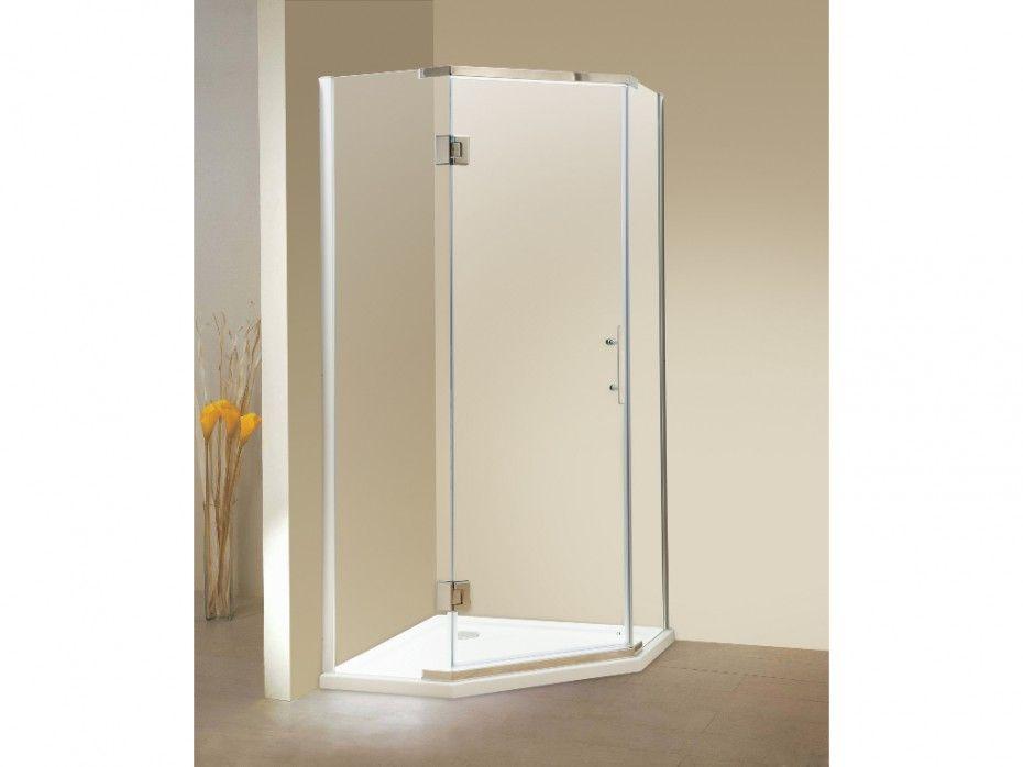 Paroi douche du0027angle porte battante - receveur inclus - ARDIA - prix baignoire a porte