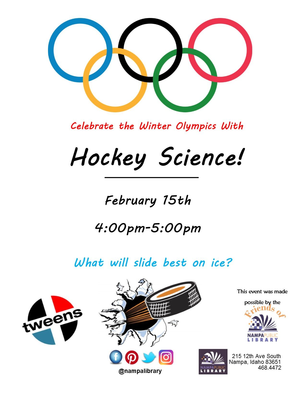 Celebrate The Winter Olympics With Hockey Science