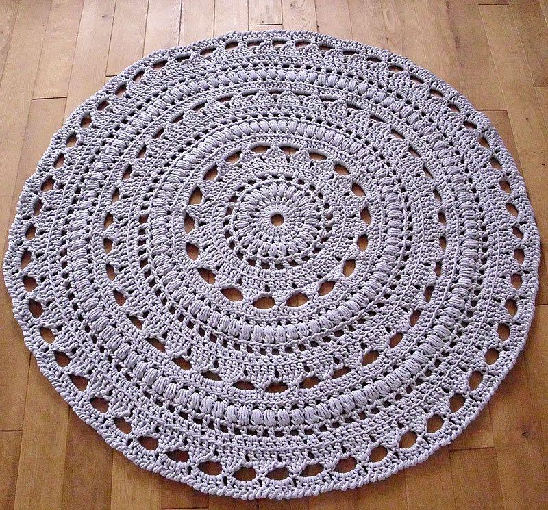 Custom Order For Kate Handmade Chunky Crochet Mega Doily Rug Navy Color Doily Rug Crochet Rug Crochet Doily Rug