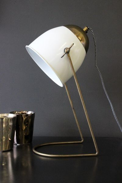 Little Brass Amp Ivory Desk Lamp Table Lamps Lighting With