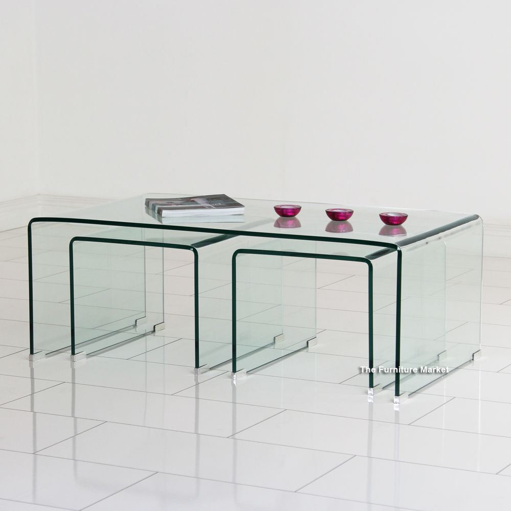 Geo glass coffee table with 2 nest tables sitting room geo glass coffee table with 2 nest tables geotapseo Gallery