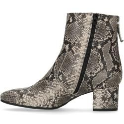 Photo of Gray snake pattern ankle boots with heel (36,37,38,39,40,41,42) Manfield