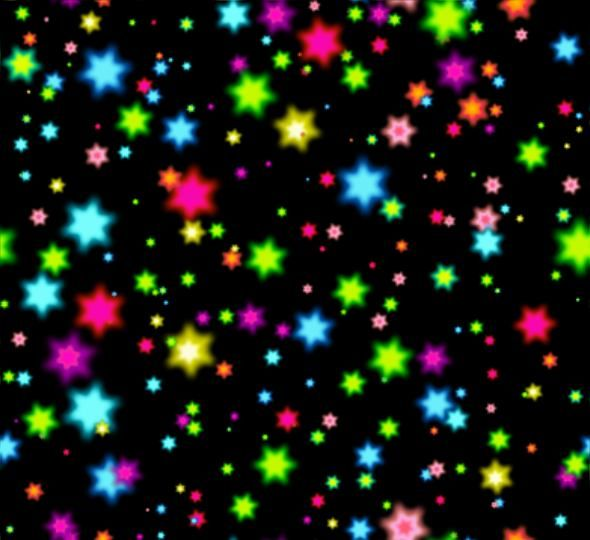 Neon Stars Multicolored Large Seamless Repeating Background Fill