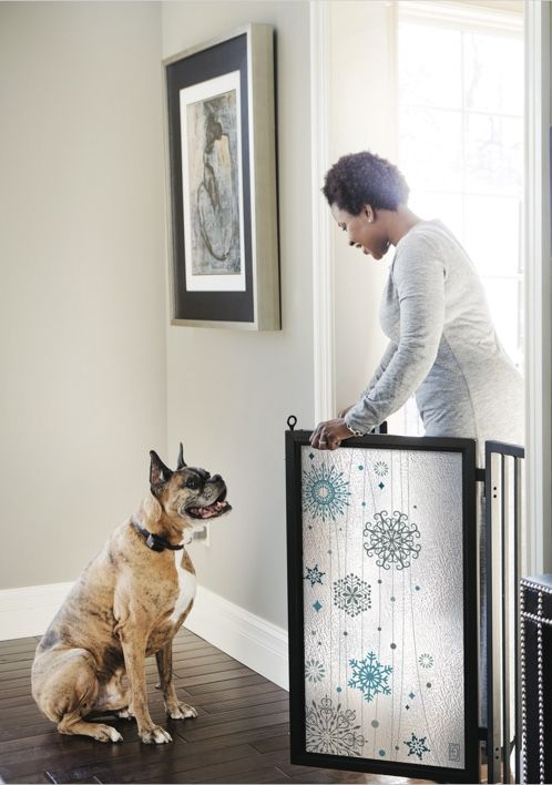 Bring winter elegance indoors with the Cool Winter screen design from Fusion Gates.  #babygates & #petgates starting at just $299.