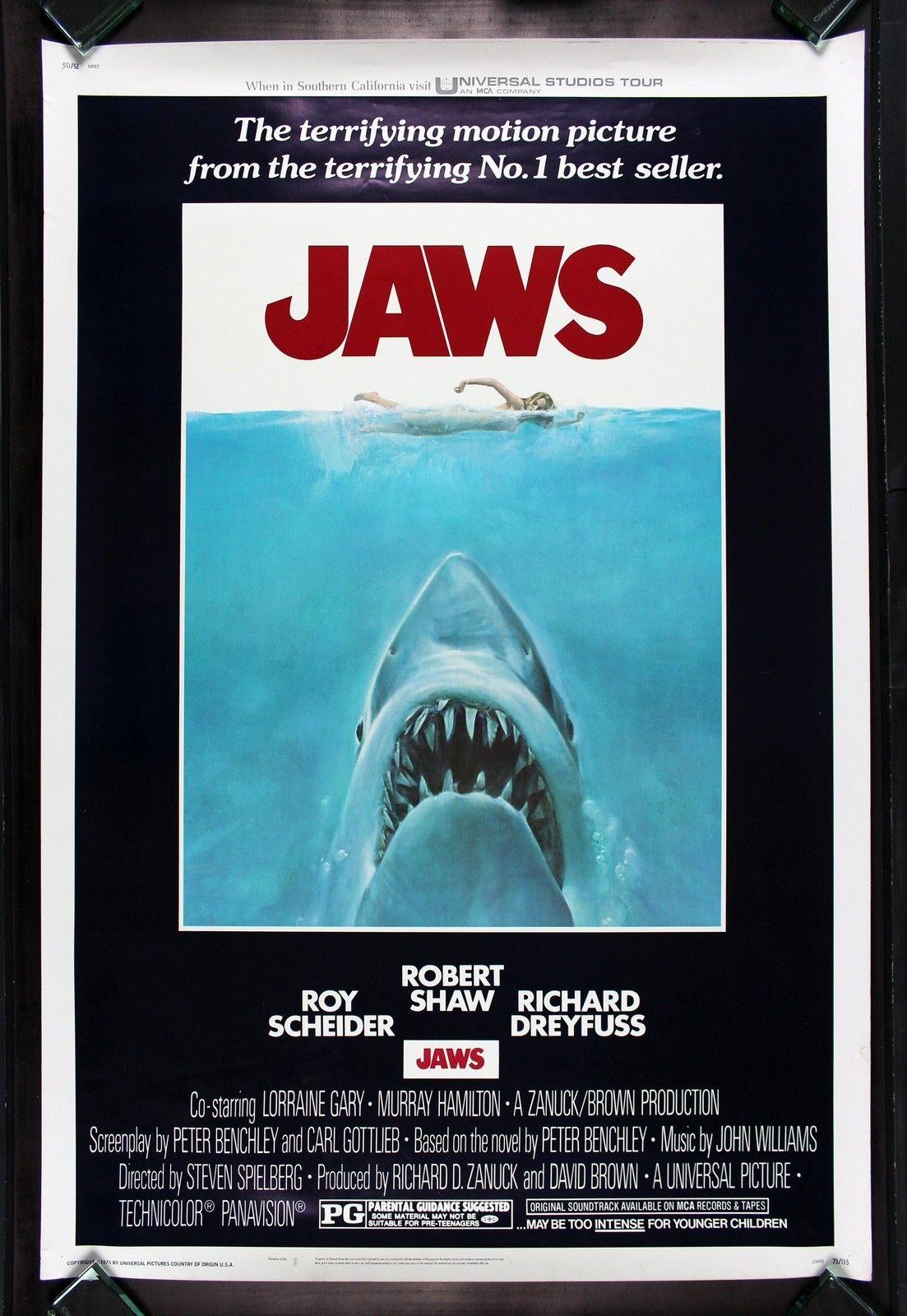 Jaws Cinemasterpieces Huge 40x60 Original Shark Movie Poster 1975 Spielberg Ebay Jaws Movie Poster Classic Movie Posters Iconic Movie Posters