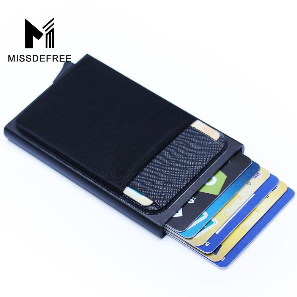 Slim RFID Card Holder Case Money Clip Wallet Pocket Coin Purse Blocking Leather
