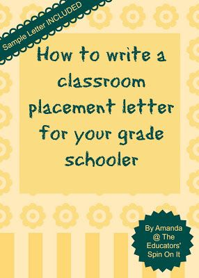 Writing a classroom placement letter or teacher request spin how to write a placement letter for classroom placement with a sample letter by amanda at the educators spin on it spiritdancerdesigns Choice Image