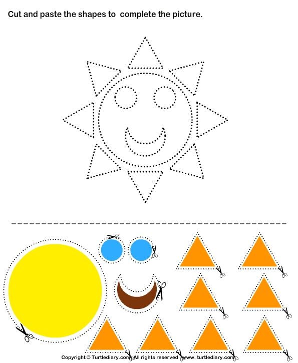 image relating to Free Printable Cutting Activities for Preschoolers identified as absolutely free printable slash and paste worksheets for kindergarten
