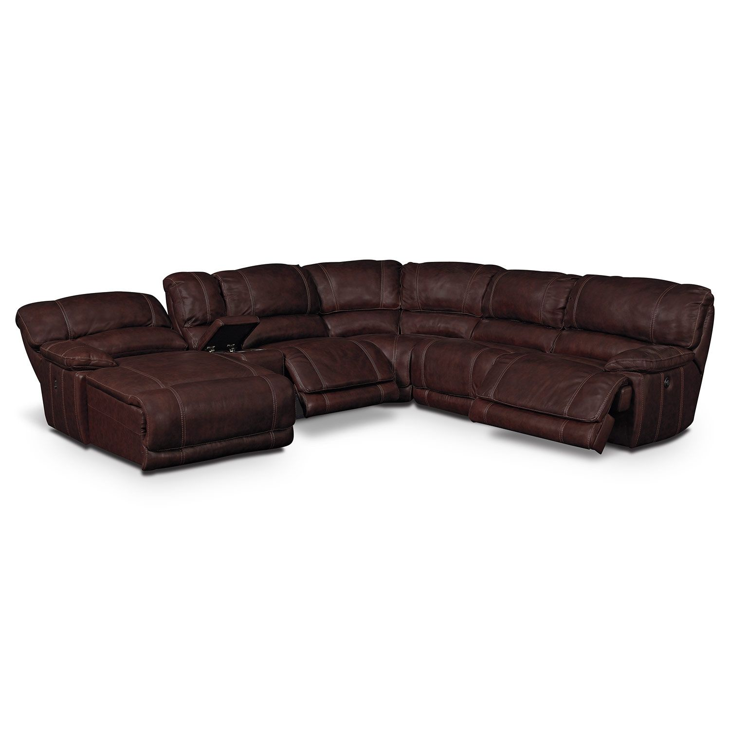 St Malo Iii 6 Pc Power Reclining Sectional Reverse