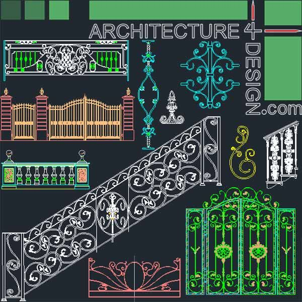 Forged Wrought Iron Railing And Gate Designs Stone Railing