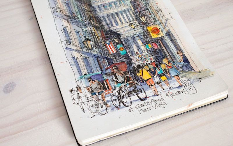 Sponsor // Sketch Lively Urban Spaces With 50% Off This Online Craftsy Class