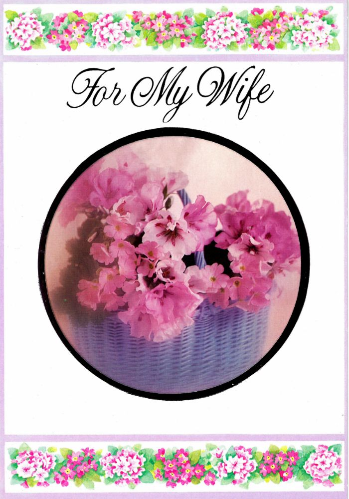 Vintage Birthday Card For A Wife 1980s Interior Reads Happy
