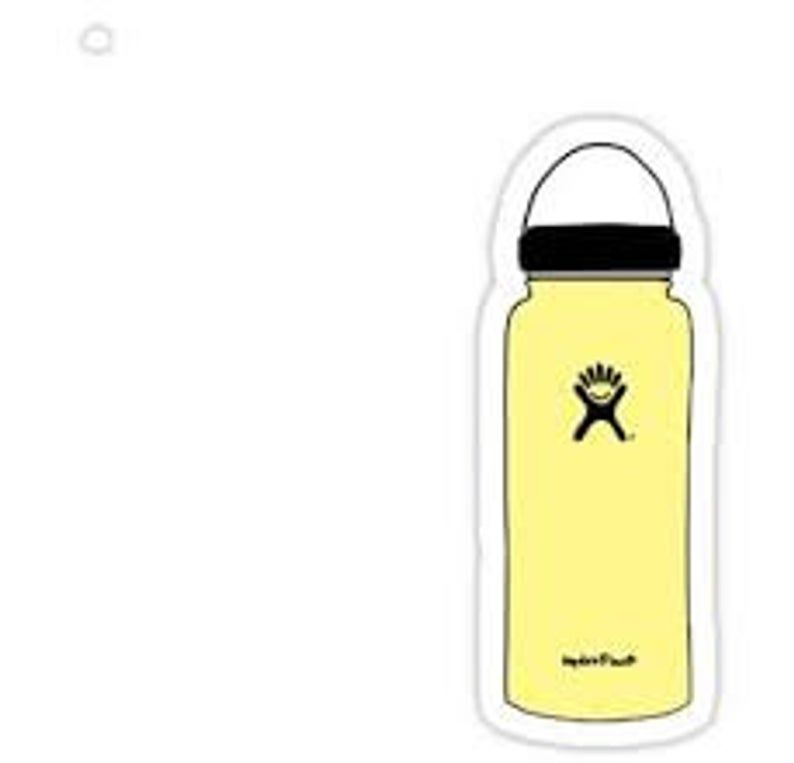 Vsco Sticker Pack Etsy Yellow Hydro Flask Stickers Yellow Things