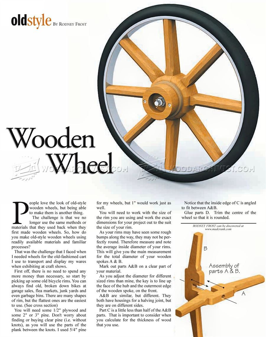 1437 Making Wooden Wheel Other Woodworking Plans And Projects