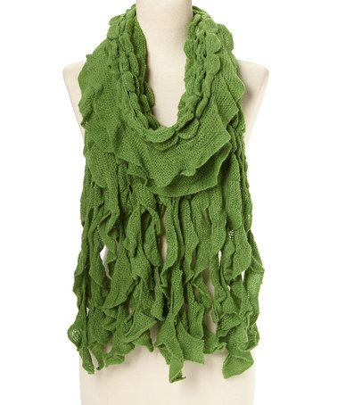 Loving this Green Texture Fringe Scarf on #zulily! #zulilyfinds