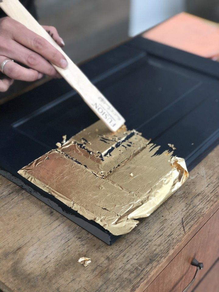 How To Apply Gold Leaf To Furniture #diyfurniture