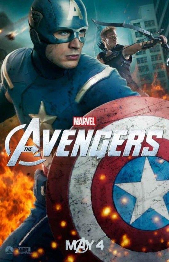 Captain America And Hawkeye Superheroes Los Vengadores Avengers